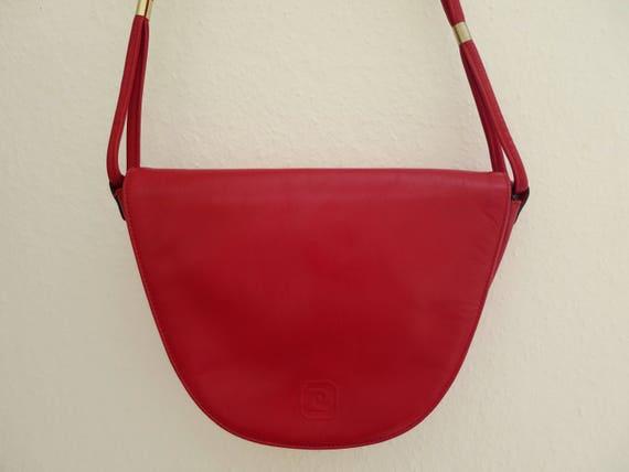 ab1aed7cc03b Pierre Cardin red shoulder bag vintage 70 s