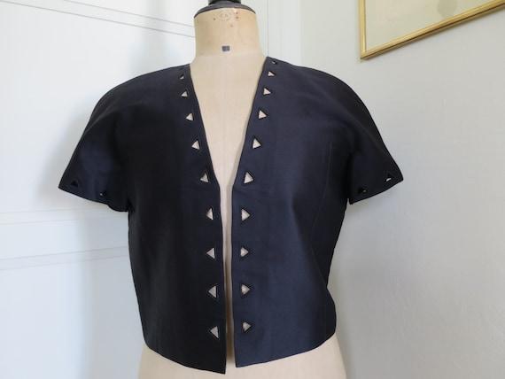 COURREGES black, short jacket, bolero