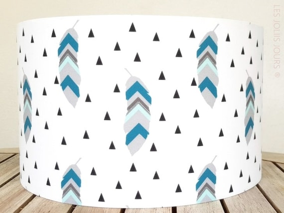 FEATHER BLUE lampshade
