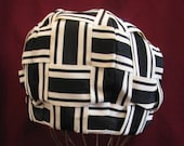 HAT PILLBOX STYLE 1950's Vintage Black & White Woven by Vincent and Harmik