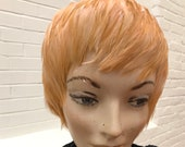 Vintage Blond Feather Cloche Hat or Wig