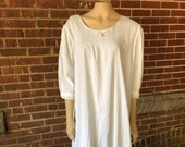 Vintage Cotton Nightgown Feminine and Romantic