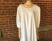 Vintage Cotton Nightgown Feminine and Romantic
