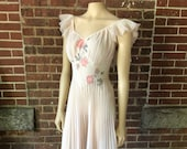 Vintage Pink Blush Lingerie With Shadow Embroidery Feminine and Sensuous