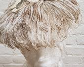 Vintage Ostrich Feather Hat John Wanamaker Label Phoenix Brooch