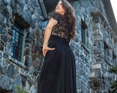 Black Evening Dress Lace ...