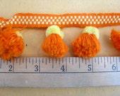 Orange and Yellow Pom-Pom Balls By The Yard