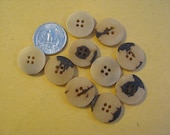 Vintage Bone Like Embellishing Buttons