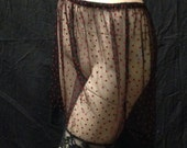 Knickers, Sheer Black with Little Red Dots by Voila' Vonceil