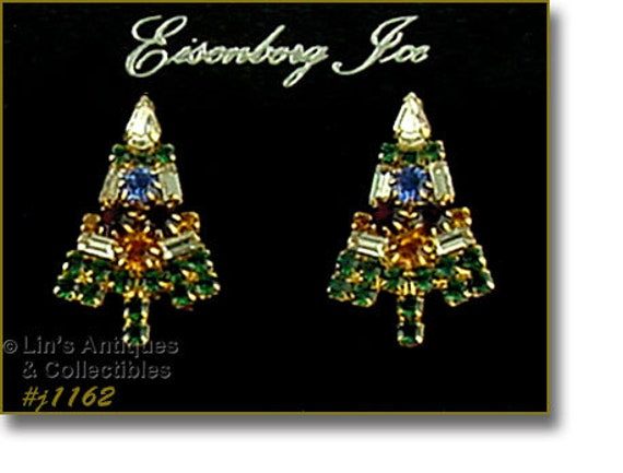 Eisenberg Ice Classic Candle Tree Pierced Earrings