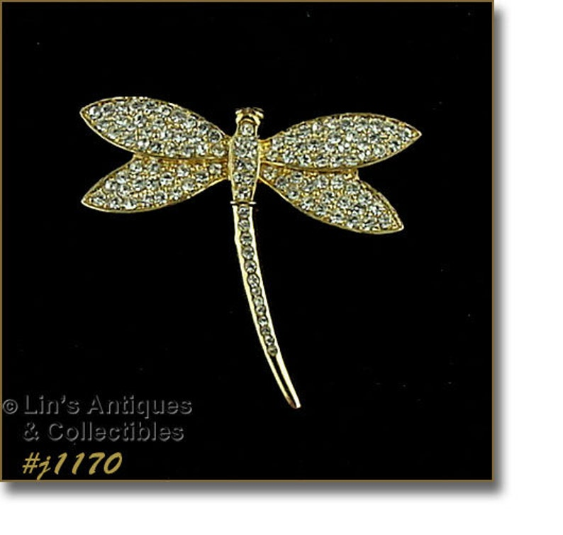 #J1170 Eisenberg Ice Signed Dragonfly Pin