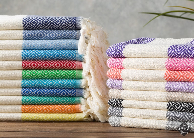 Diamond Hand Towel Turkish Head/Hand Towel Cotton Hand image 0