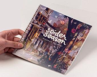 Spider Season | art book | 40 page artist's watercolor sketchbook | seattle urban sketches