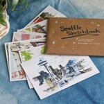 "SEATTLE POSTCARDS | Set of Eight (8) Assorted 4x6"" Illustrated Pacific Northwest Cityscape Cards"