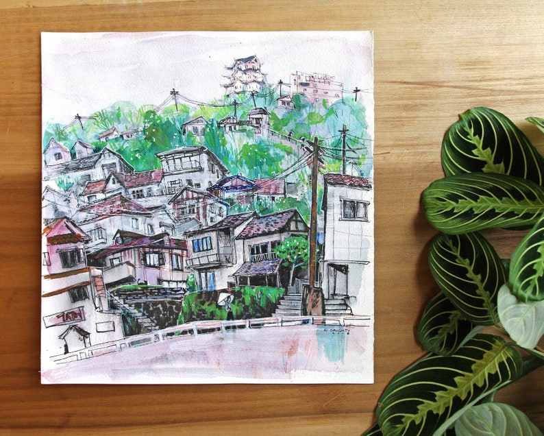 ONOMICHI 尾道  Hillside & Castle  広島県 Hiroshima-ken Japan image 0