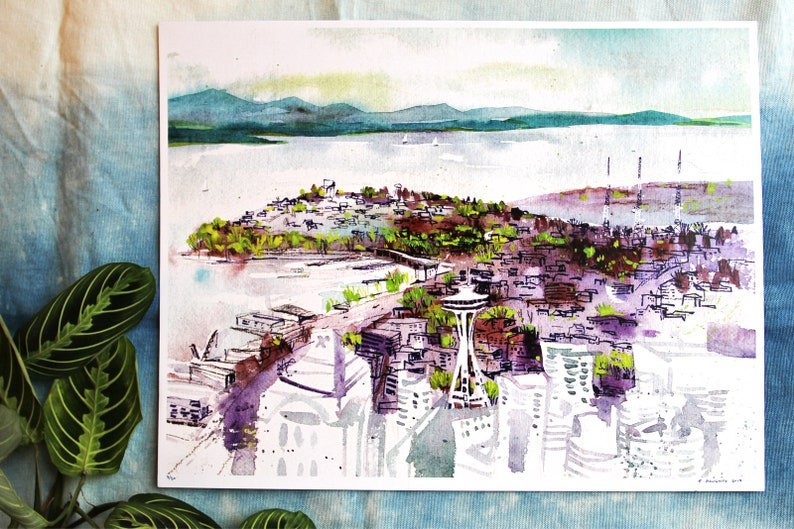 SEATTLE SPRING  11x14 limited edition art print  pacific image 0