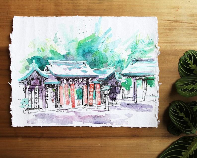 OHMIYA SHINTO SHRINE  大宮八幡宮  神社  tokyo 東京 japan plein air image 0