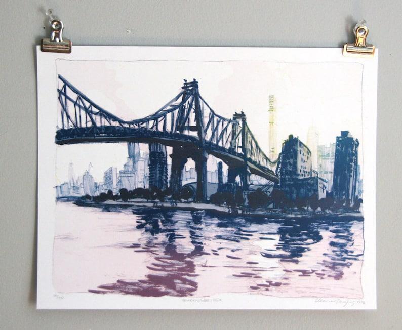 81132e81ce1 Queensbridge Park Queensboro Bridge Queens NYC Art Print