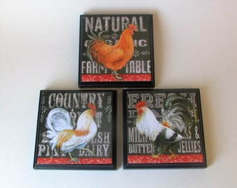 Rooster Kitchen Decor Etsy