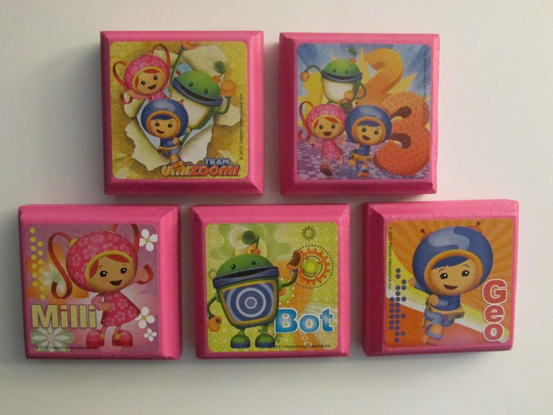 Umizoomi Fridge Magnets Milli Geo Bot Chunky Magnet Set Set of 5 Excellent Birthday Party Favors