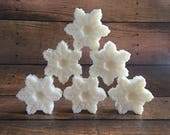 Peppermint Soap set of 6, Stocking Stuffers. Snowflake Soap. Mint Soap. Christmas Soap. Holiday Soap. Holiday Gifts Under 30. Gift For Her