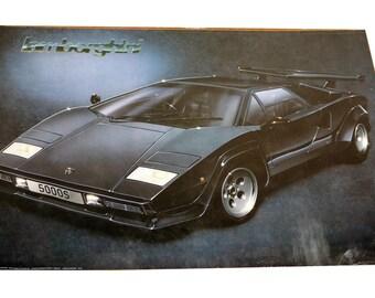 17 x 22 Vintage 1987 Lamborghini Countach Poster