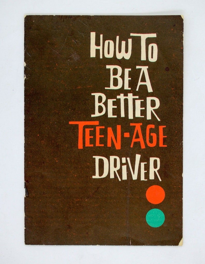 Vintage 1960s Metropolitan Life Insurance How To Be A Better Teenage Driver Booklet