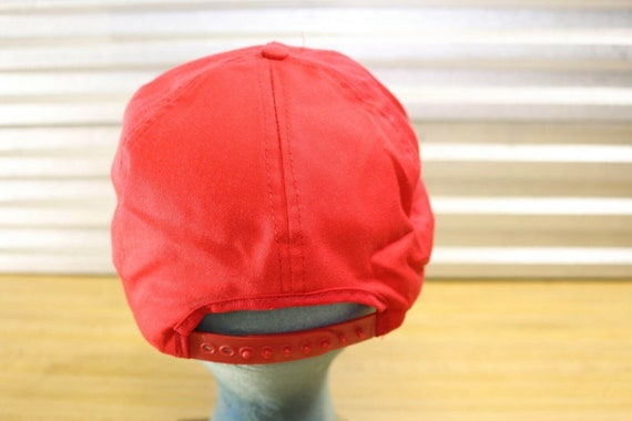 Vintage Cinemax Movie Channel Red Snapback Hat - image 3