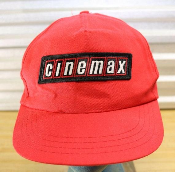 Vintage Cinemax Movie Channel Red Snapback Hat - image 1
