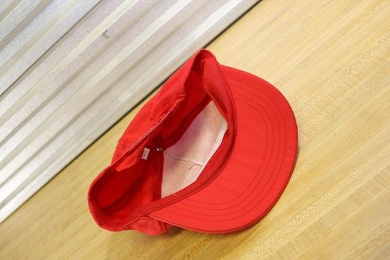 Vintage Cinemax Movie Channel Red Snapback Hat - image 5