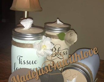 2 or More Bless You Tissue Jar Lid Inserts-Mason Jar Lid-MasonJar Craft Lid Insert-Bless you jar-Foam Lid Insert-Foam insert Mason Jar Craft
