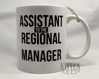 Assistant to the Regional Manager Coffee Mug   Office Humor   Office Fan   Coworker Gift   Administrative Professionals Day