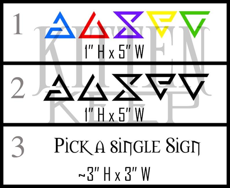 The Witcher Signs Vinyl Decals Set | Geralt Of Rivia | Roach | Gaming Decor  | Car, Laptop, Phone Decor