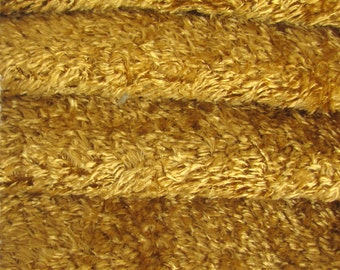 SAVE MONEY-9.95 Regular 19.35 Quality VIS2/SCM -Viscose -1/6 yard (Fat) in Intercal's Color 497S-Desert Gold. A German Teddy Bear Fur Fabric
