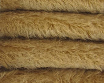 Quality 300S/C - Mohair - 1/6 yard (Fat) in Intercal's Color 462S-Camel. A German Mohair Fur Fabric for Teddy Bear Making, Arts & Crafts