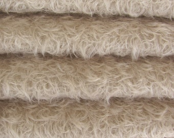 ETSY SPECIAL - 16.35 - Save Money - Quality 325S/CM - Mohair - 1/6 yard (Fat) in Intercal's Color 569S-Silver Grey. A German Mohair Fabric