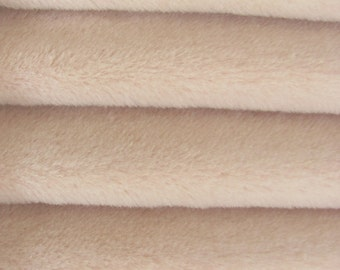 Quality ALP7/S - Alpaca  - 1/3 yard in Intercal's Color 717S-Soft Pink. A German Alpaca Fur Fabric for Teddy Bear Making & Crafts