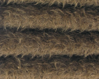Quality 325S/CM - Mohair-1/6 (fat) yard in Intercal's Color 350S-Antique Brown. A German Mohair Fur Fabric for Teddy Bear Making & Crafts