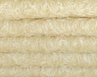Quality 325S/CM - Mohair-1/3 yard in Intercal's Color 528S-Cream. A German Mohair Fur Fabric for Teddy Bear Making, Arts & Crafts