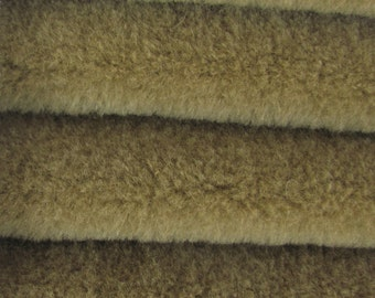 Quality WOOL1 - Wool  - 1/3 yard in Intercal's Color 467S-Brownstone. A German Wool Fur Fabric for Teddy Bear Making, Arts & Crafts
