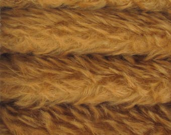 SAVE MONEY - 5.00 OFF - Quality 380V - Mohair - 1/6 yard (Fat) in Intercal's Color 711S-Caramel. A Mohair Fur Fabric for Teddy Bear Making