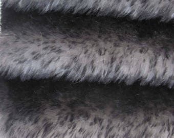 Quality 830S/T- Mohair -1/6 yard(Fat)in Intercal's Color 409ST-Midnight Sky w/Black Tips. A German Mohair Fur Fabric for Teddy Bear Making.