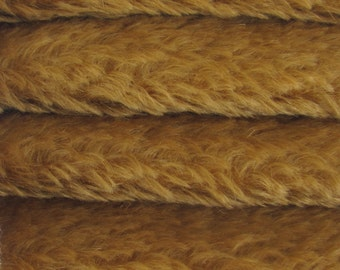 SAVE MONEY - 5.00 OFF - Quality 785V - Mohair - 1/4 yard (Fat) in Intercal's Color 821S-Amber. A German Mohair Fabric for Teddy Bear Making