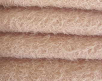 Quality 300S/CM - Mohair-1/3 yard in Intercal's Color 717S-Soft Pink. A German Mohair Fur Fabric for Teddy Bear Making, Arts & Crafts