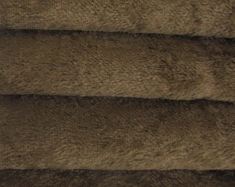 Quality VIS1 - Viscose -1/3 yard in Intercal's Color 350S-Antique Brown. A German Viscose Fur Fabric for Teddy Bear Making & Crafts
