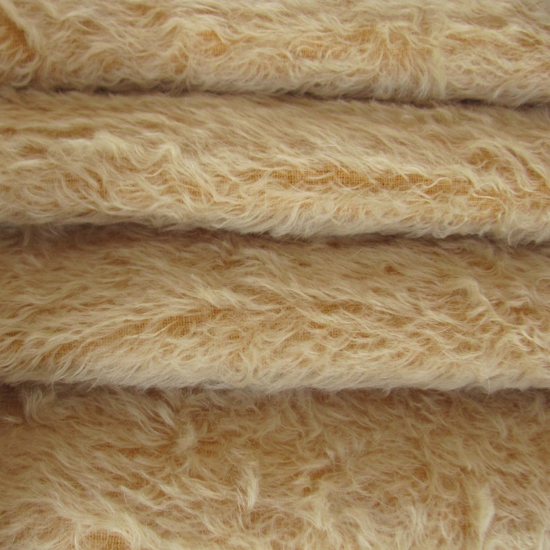 Fat Quality 325SC A German Mohair Fur Fabric for Teddy Bear Making. 16 yard Mohair in Intercal/'s Color 573SD-Buttercup wDark Back