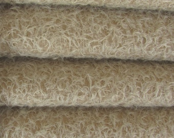 Quality 300S/CM - Mohair-1/3 yard in Intercal's Color 545S-Sand. A German Mohair Fur Fabric for Teddy Bear Making, Arts & Crafts