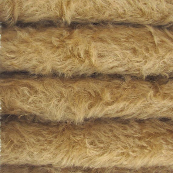 "1//4 yd 325S//C Bluebell INTERCAL 5//8/"" Semi-Sparse Curly German Mohair Fur Fabric"