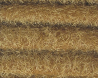 Quality 325S/CM - Mohair-1/6 yard (Fat) in Intercal's Color 340S-Honey Tan. A German Mohair Fur Fabric for Teddy Bear Making, Arts & Crafts
