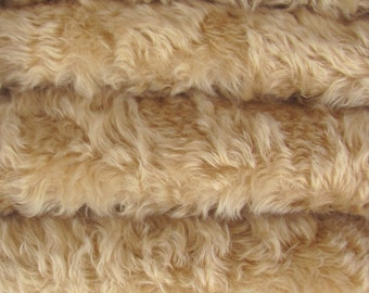 SAVE - 5.00 OFF - Quality 850VIS/WHIRL - Mohair/Viscose - 1/6 yard (Fat) in Intercal's Color 533S-Wheat. German Mohair/Viscose Fur Fabric